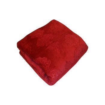 دفاية سرير لون أحمر