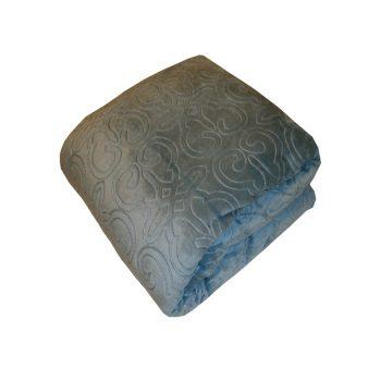 دفاية سرير لون ازرق فاتح