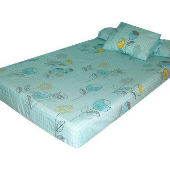 طقم ملاية سرير فردي مشجر تركواز
